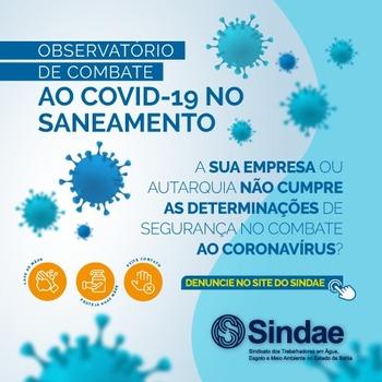 Doença avança na empresa e Sindae cobra adoção de medidas urgentes pela Embasa